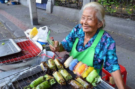 She's been selling sticky rice sweets in Bangkok for 60 years!